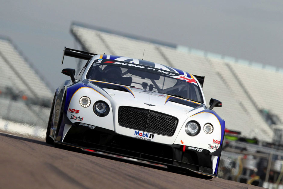 Bentley, in action on the race course. Race Car Pre-Season Preparation Example , Precision Paint, Werllington, Somerset