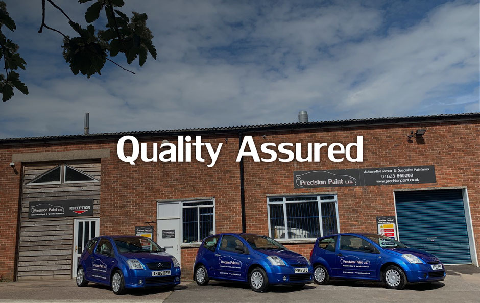 Precision Paint's approved bodywork garage for accident repairs in Wellington, Somerset