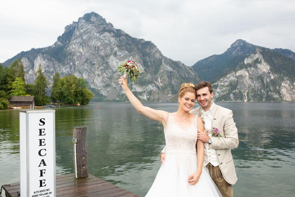 Hochzeitsfotografin Oberösterreich, Traunsee, Spitzvilla, Hochzeitsfotograf Salzkammergut, Gmunden