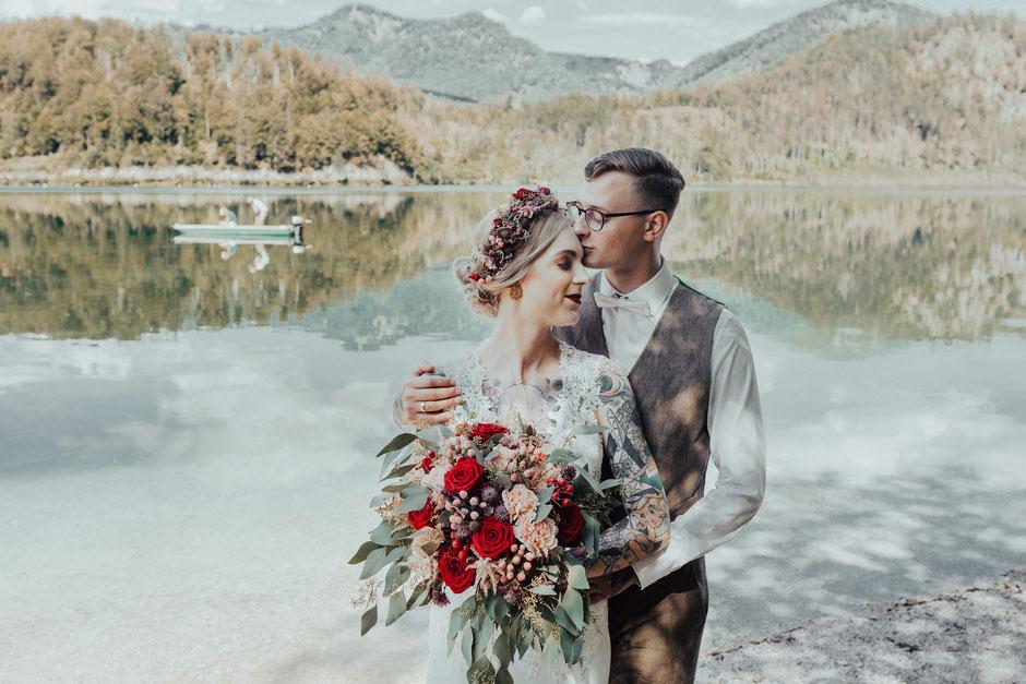 Hochzeitsfotografin Oberösterreich, Almsee, Destination Wedding, Bohohochzeit, Hochzeitsfotograf Vöcklabruck, Gmunden