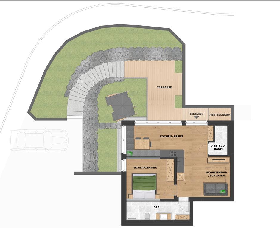 Grundriss Wohnung Waldrose