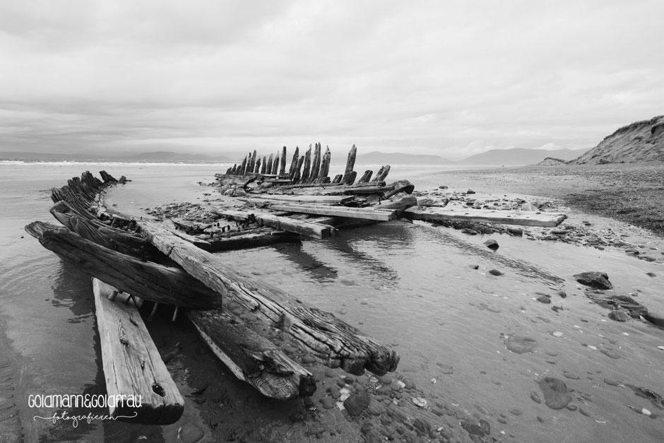 Schiffswrack am Rossbeigh Beach
