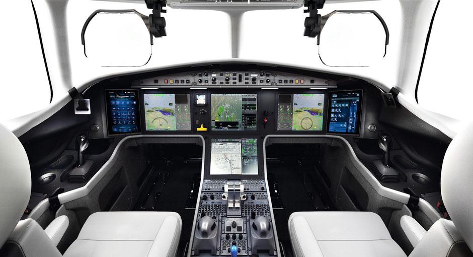 Blick ins Cockpit. Foto: Dassault Aviation