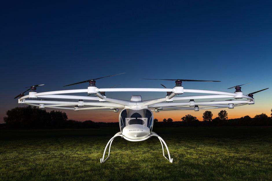 Der Volocopter ist eines der Zukunftsprojekte made in Germany. Foto: e-Volo/Nikolay Kazakov