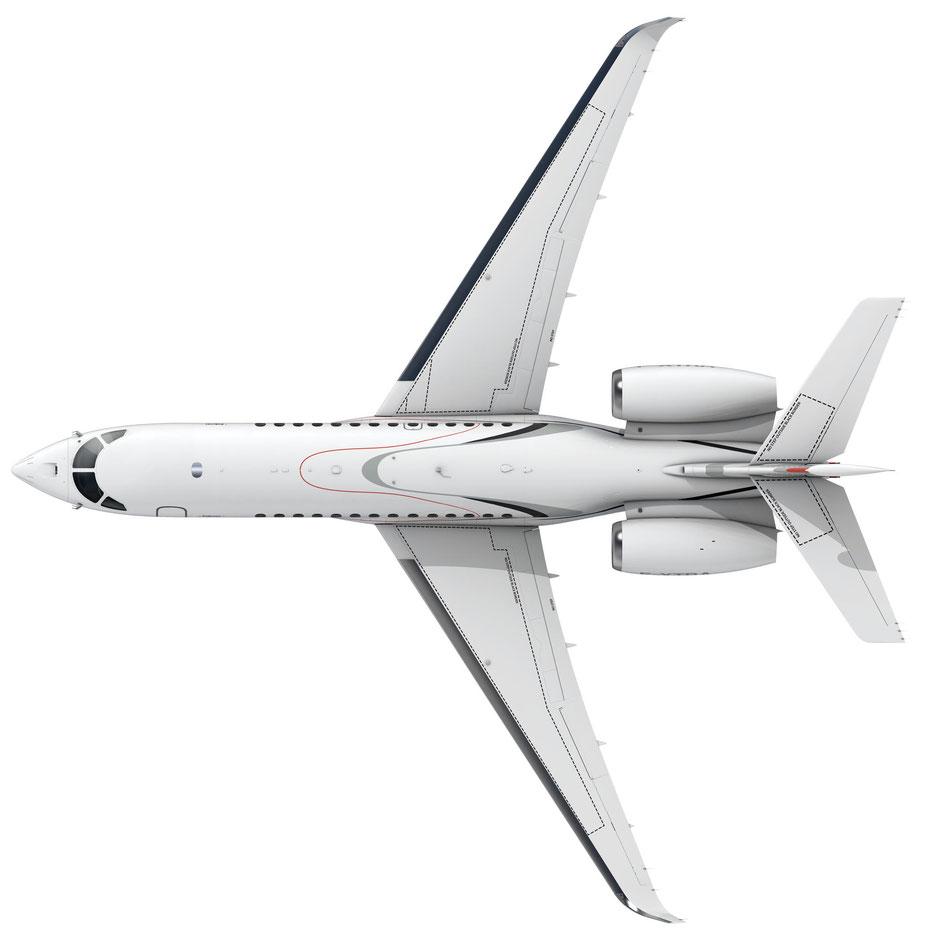 Ansicht von oben. Grafik: Dassault Aviation
