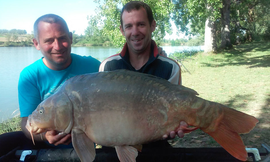 Carps weigh to 20kg