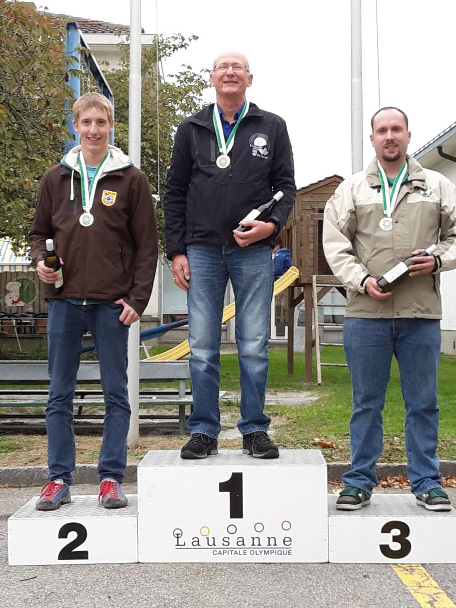 Podium catégorie A Elite : Olivier Moret, Froideville Tir Sportif, Champion Vaudois 2015
