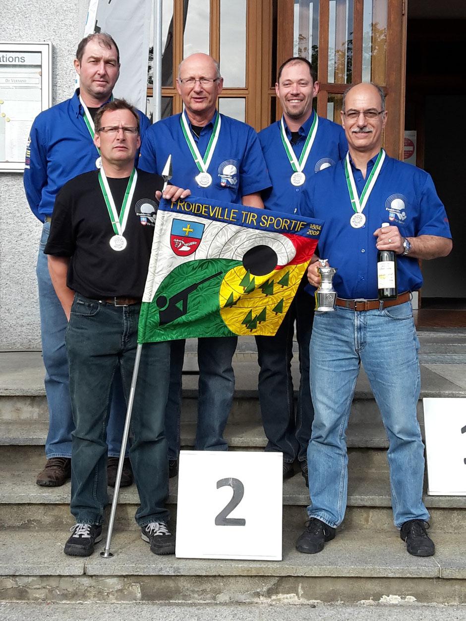 Photo des Vice-champions Vaudois en groupe catégorie A (carabines standards)