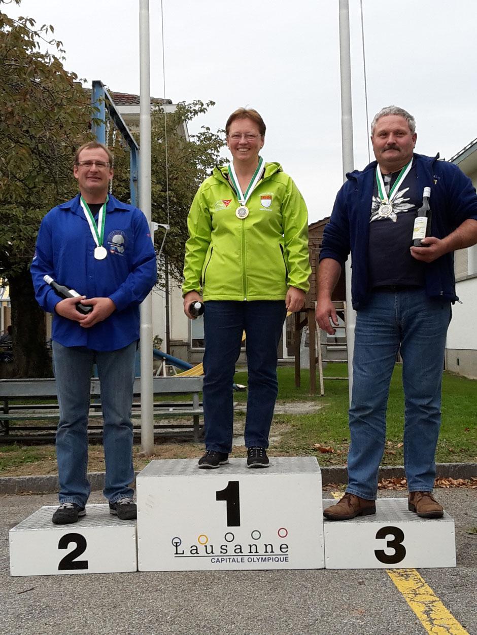 Podium catégorie D Elite : Pierre-François Perren, Froideville Tir Sportif, Vice-Champion Vaudois 2015