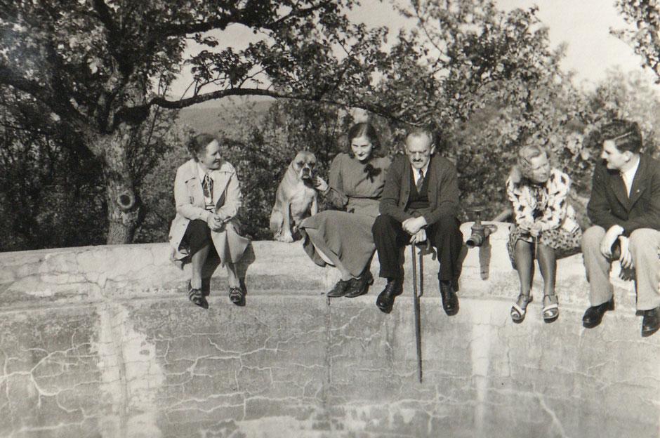 1940 Erna Bock, Elisabeth, Oskar, Lotte, Werner Baumann