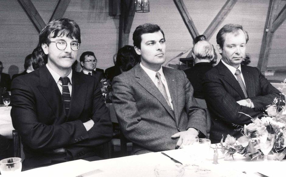 1983, anläßlich einer Baumann-Ausstellung in Schloss Theuern, vl. Georg III, Peter, Erhard...