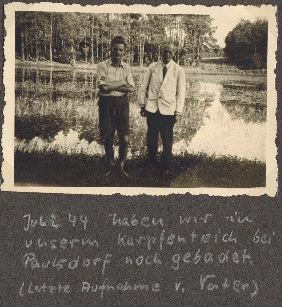 1944 letztes Foto von Oskar