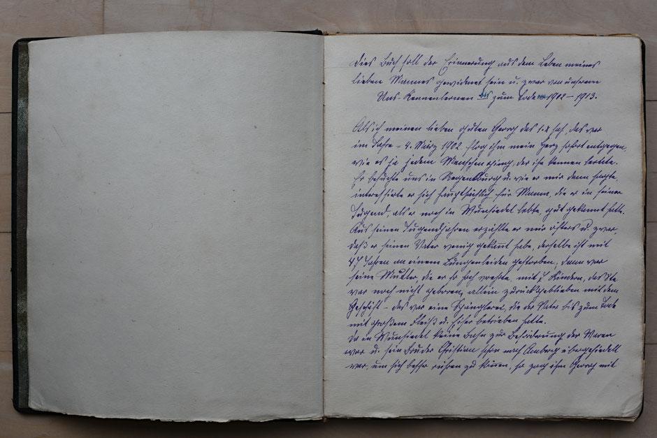 1.Seite von Ernys Erinnerungen an Georg