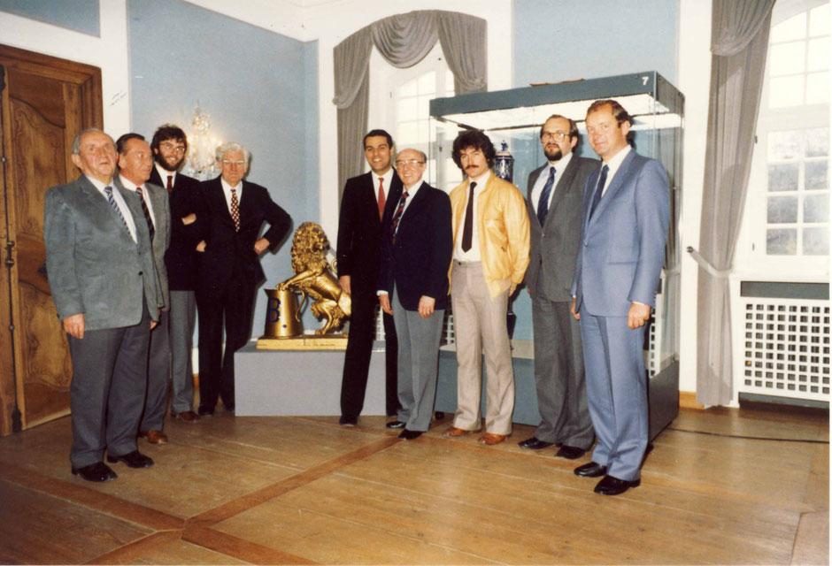 Ausstellungseröffnung: Krause, Pfab, Georg B., Werner B., Peter B., Birner, Breitkopf,?, Erhard B