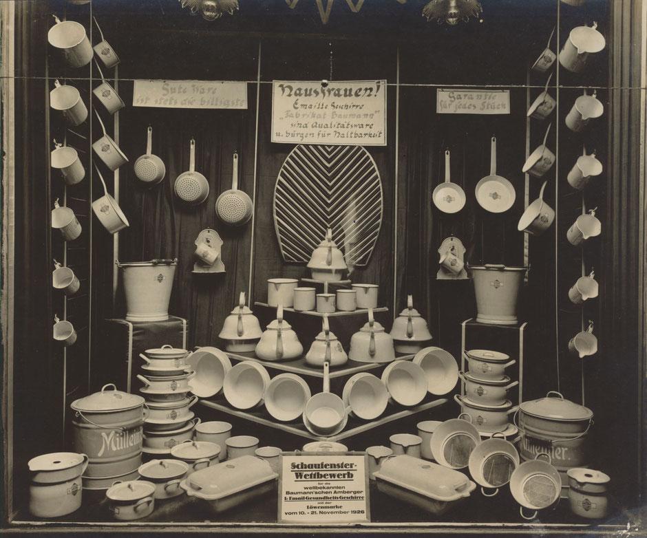 Schaufenster-Wettbewerb 1926: Eugen Zeis, Berlin - Trostpreis 50 M