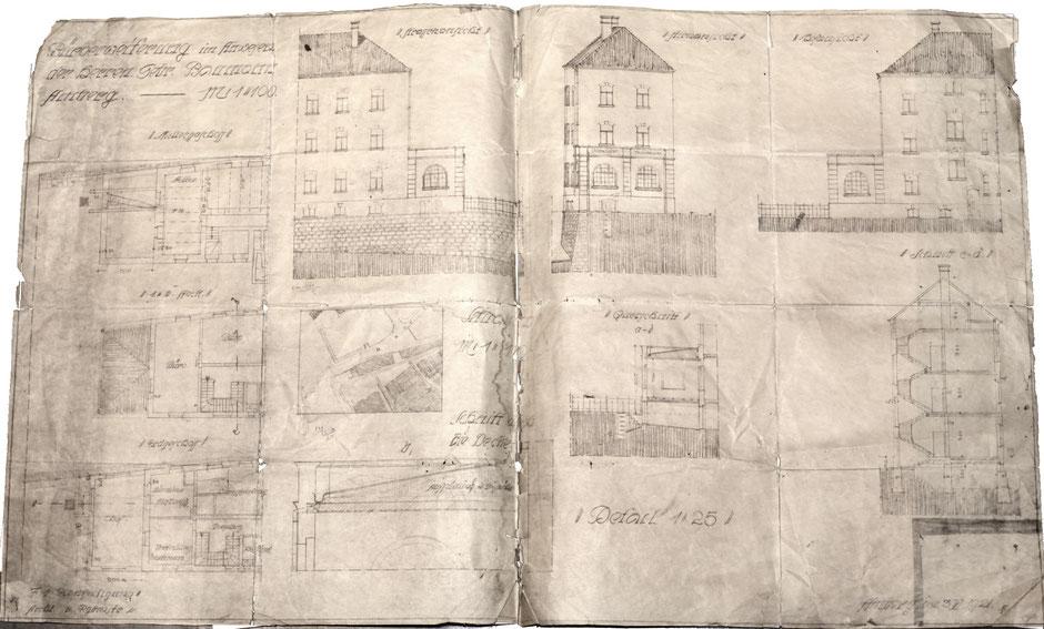 3.5.1921 Anbau des Hauptbüro an das Verwaltungsgebäude