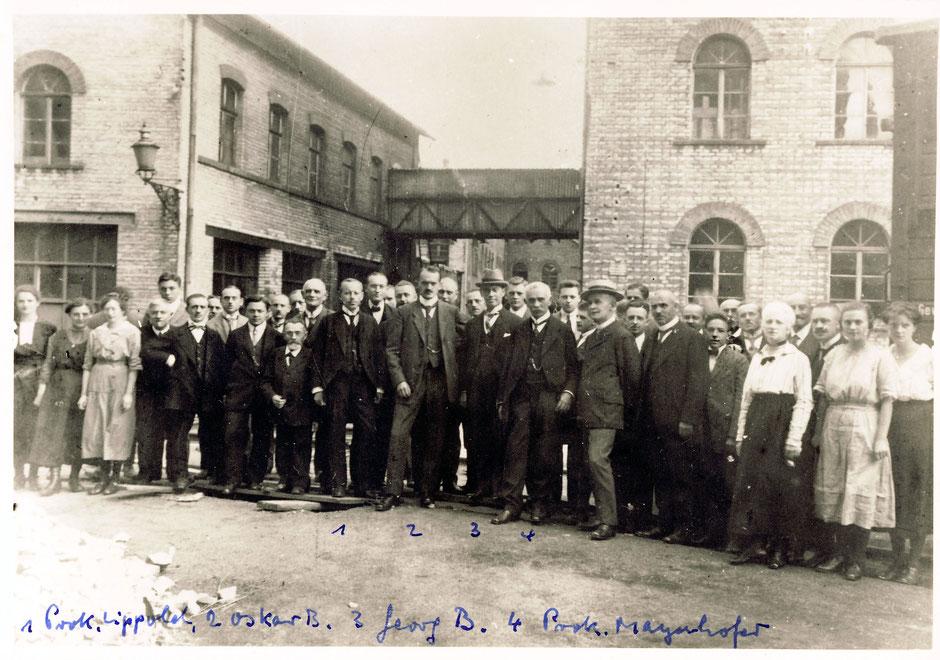 1919ca Beschriftung Werner Baumann