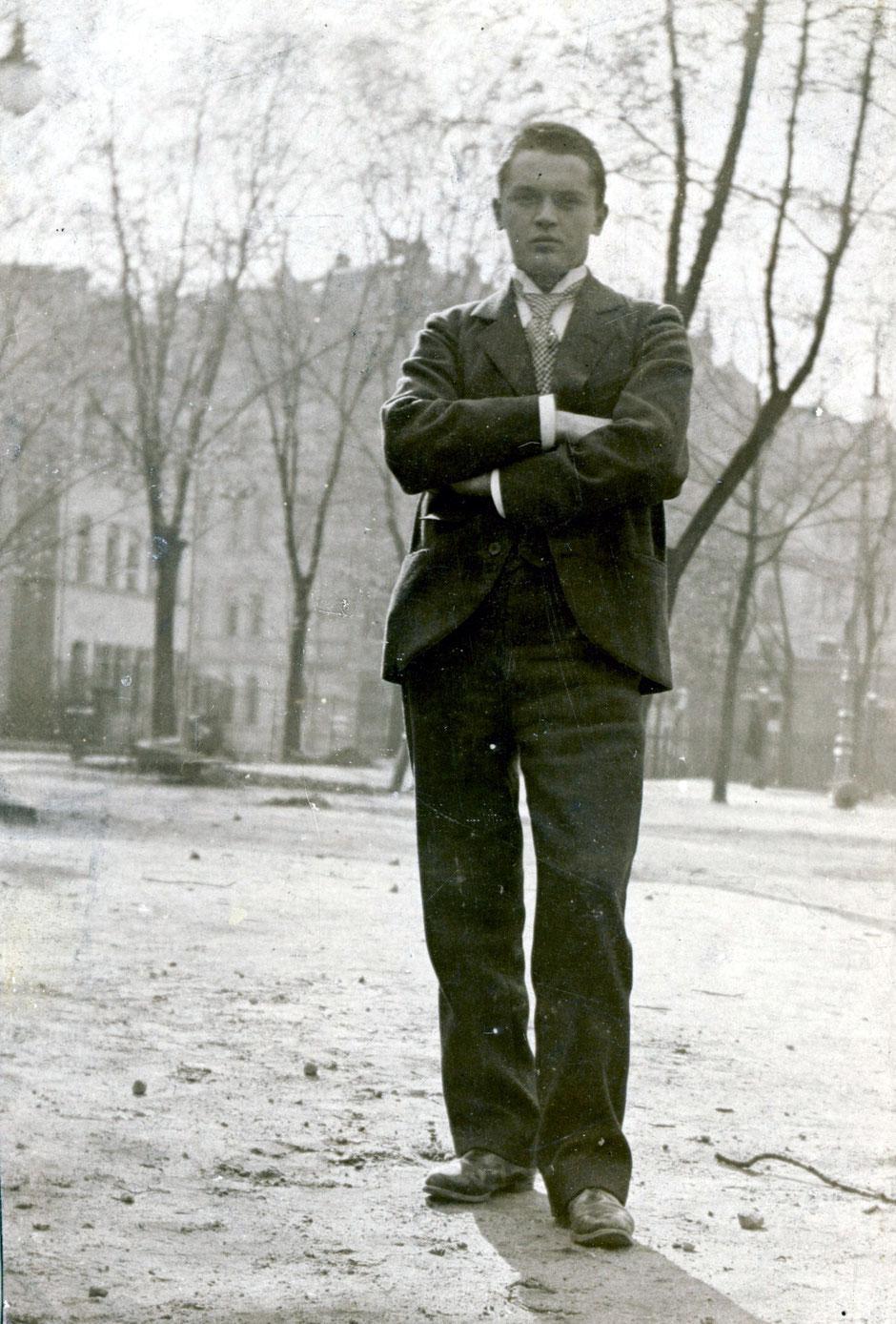 1898 Oskar als Realschüler