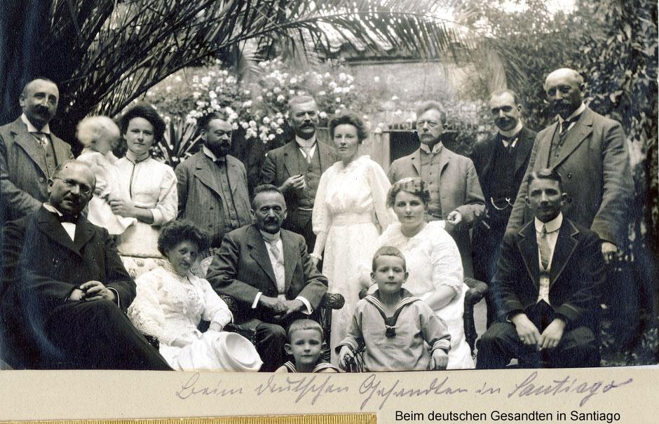 Beim deutschen Gesandten in Santiago