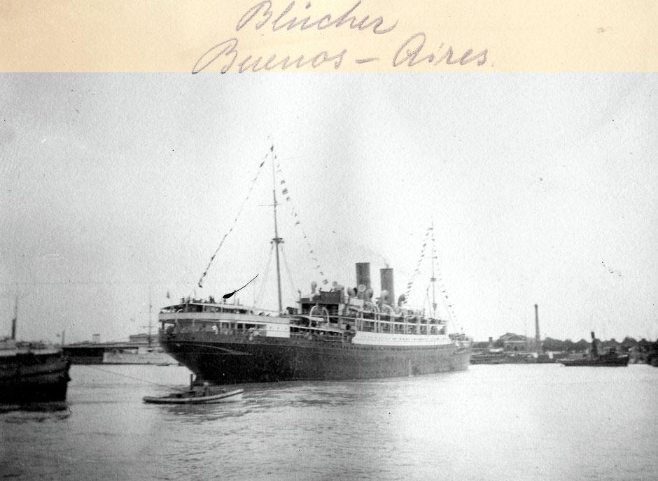 Südamrikareise auf der SS Blücher