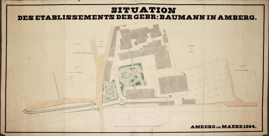Plan der Firma 1884 [Quelle Archiv Museum Theuern]