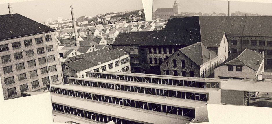 Neue Halle für die Rohwaren Fertigung 1964