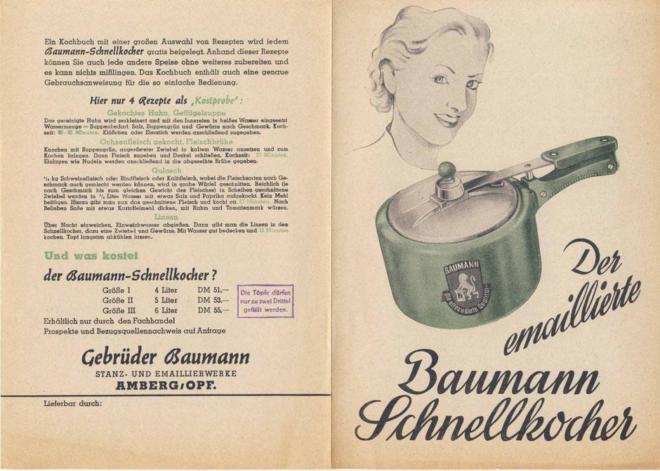 Prospekt für Dampfkochtopf