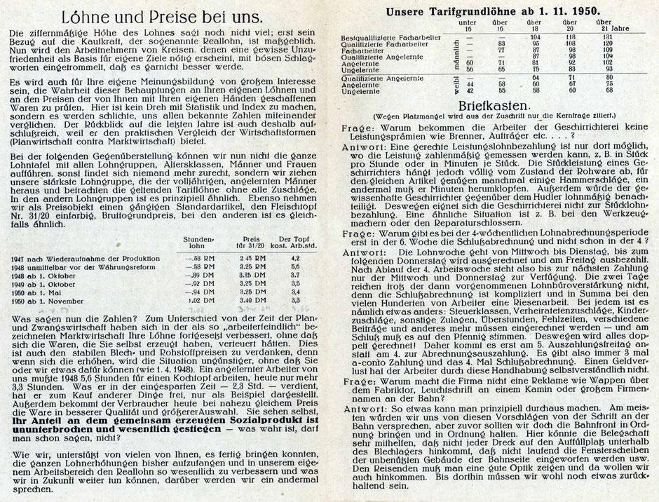 Werkszeitung 1950