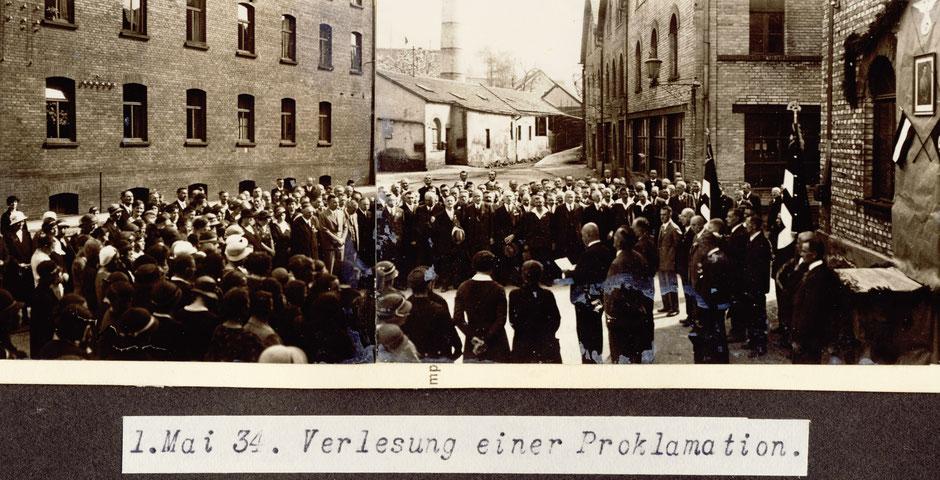 1934 1.Mai Verlesung einer Proklamation