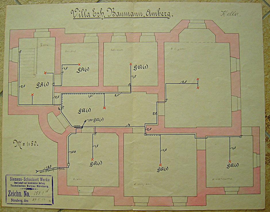 1903 Plan zur Elektrifizierung