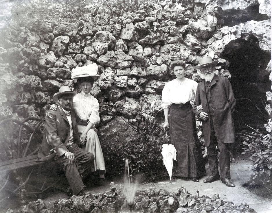 1908 Grotte (Georg I, Erny, Eltern Rubner)