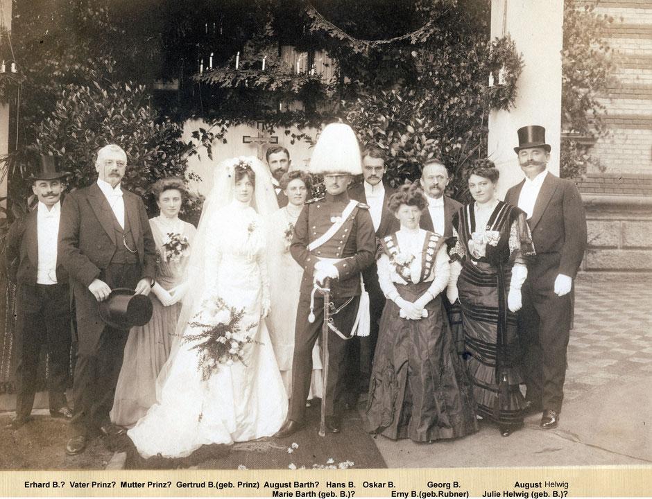 17.9.1908 Heirat Sohn Hans (33 Jahre) mit Gertrud Prinz