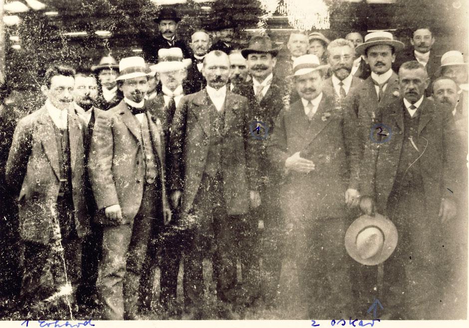 Foto etwa 1917, Anlaß unbekannt