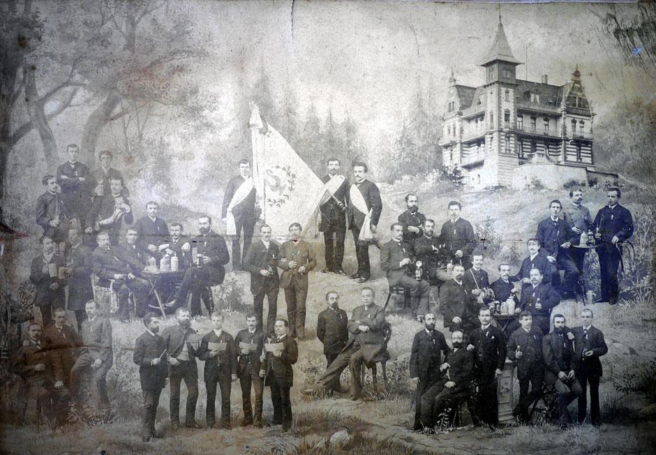 """Gesangsverein """"Erheiterung""""; ca 1892"""