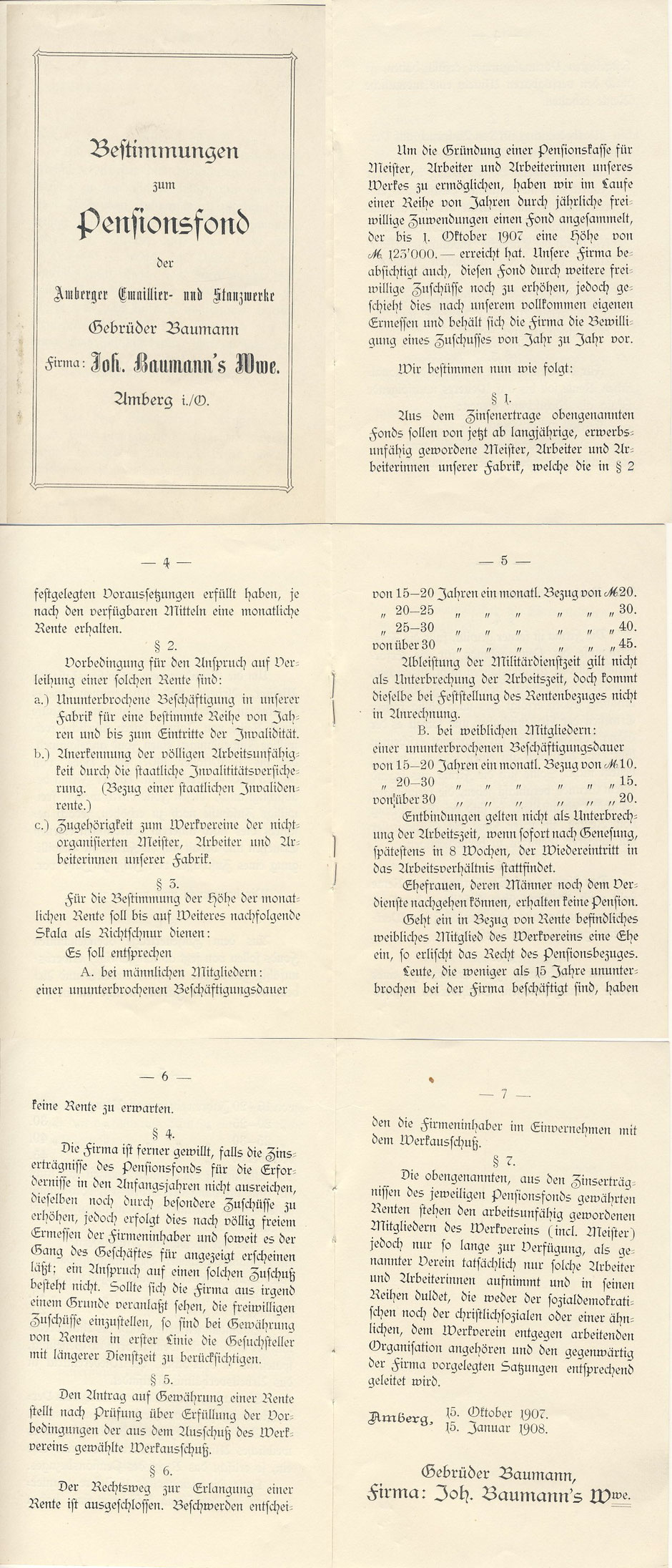 Statuten des Pensionsfonds 1908 [11]