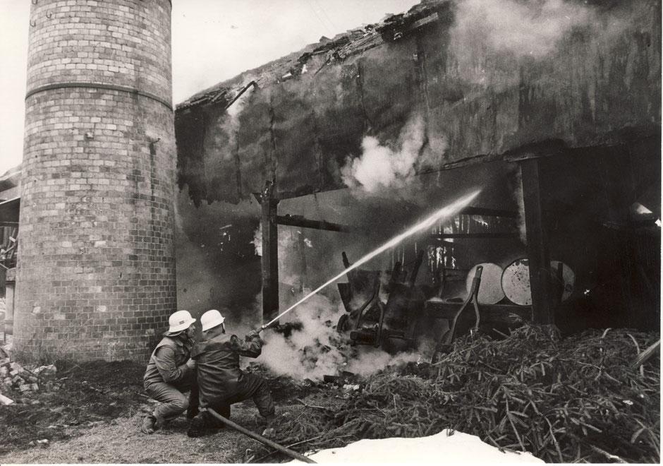 1973 Brand im Kohlelager