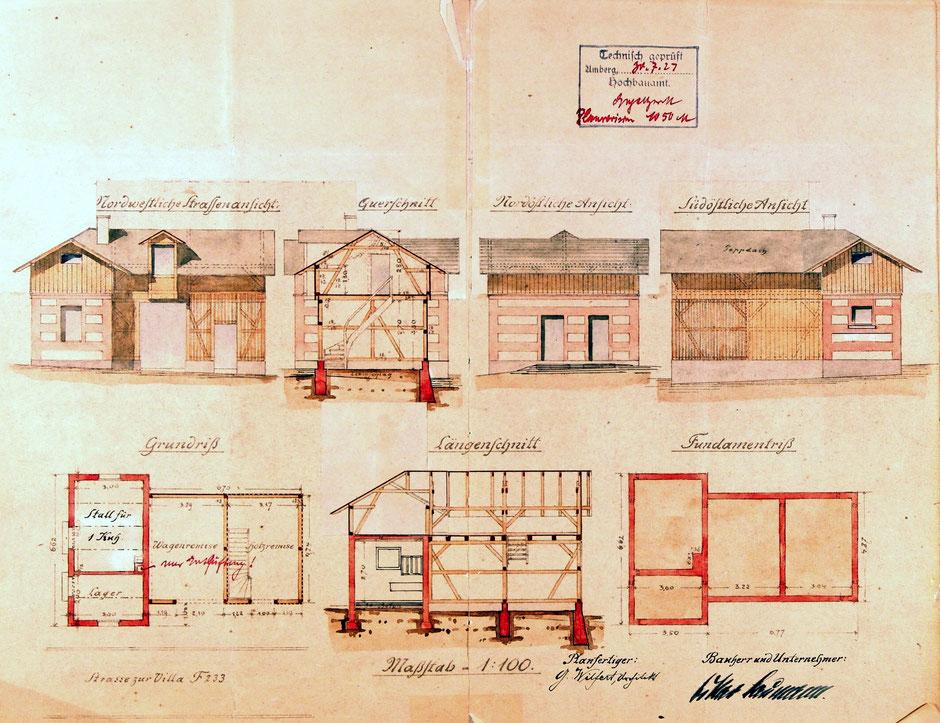 Bauplan für Stall