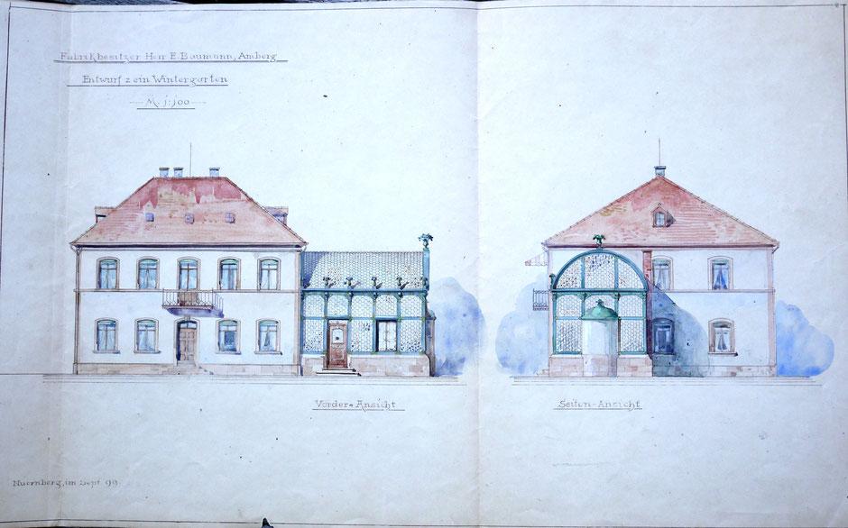 1899 Bauplan Wintergarten