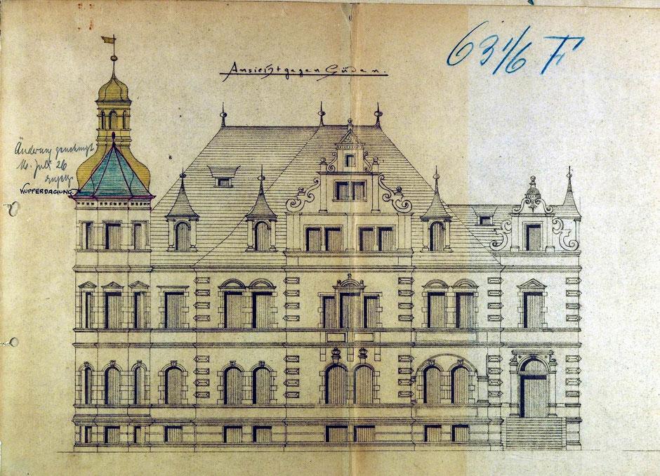 1896 Bauantrag Ansicht von Süden