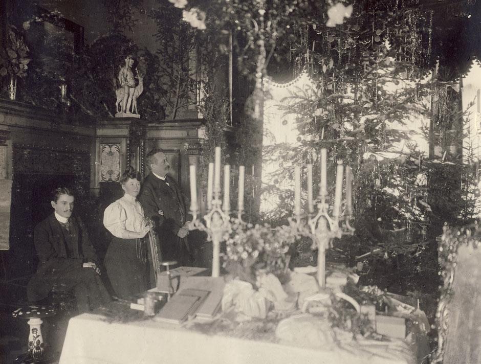 1906 Weihnachten (Beschriftung Weihnachtsidyll)