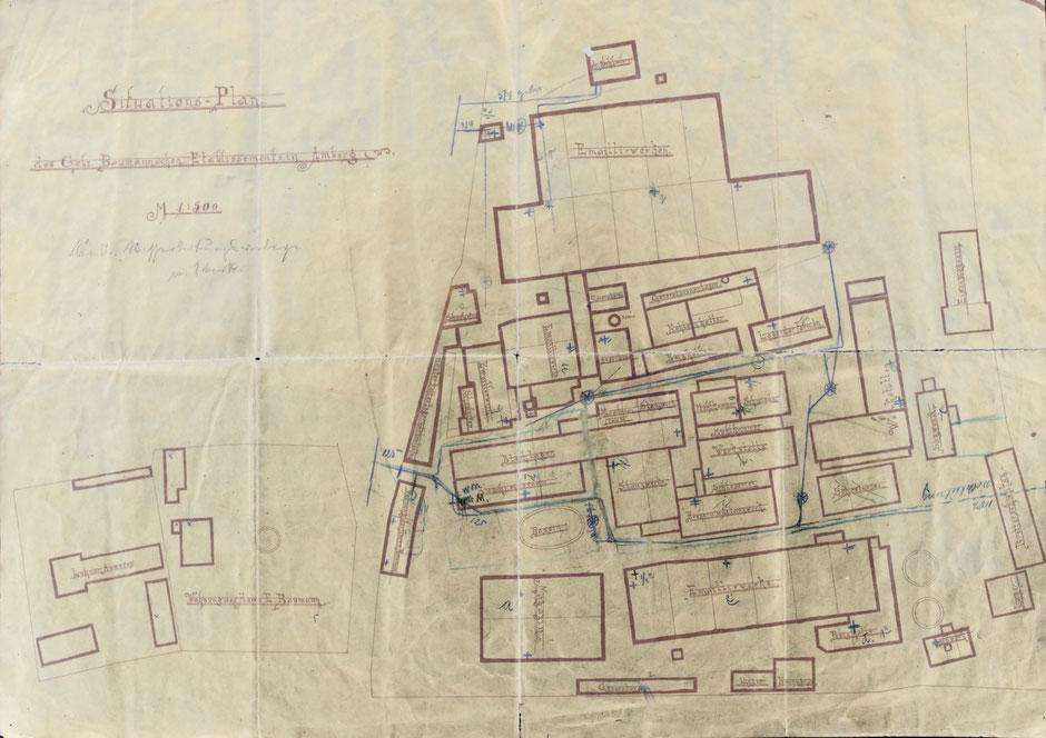 Plan etwa 1895 [Quelle Museum Theuern]