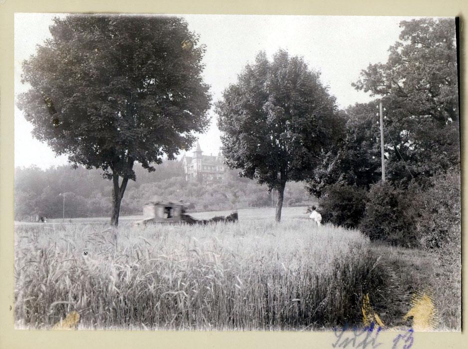 Sommervilla von der Raigeringerstraße aus gesehen (1913)