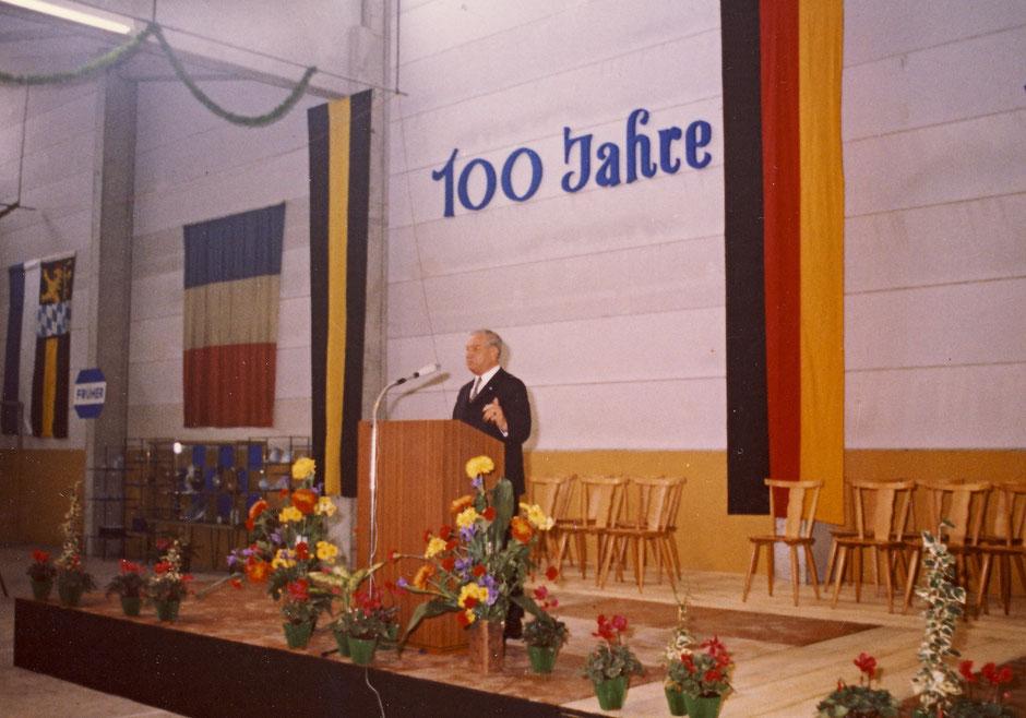 Ansprache Ministerpräsident Goppel