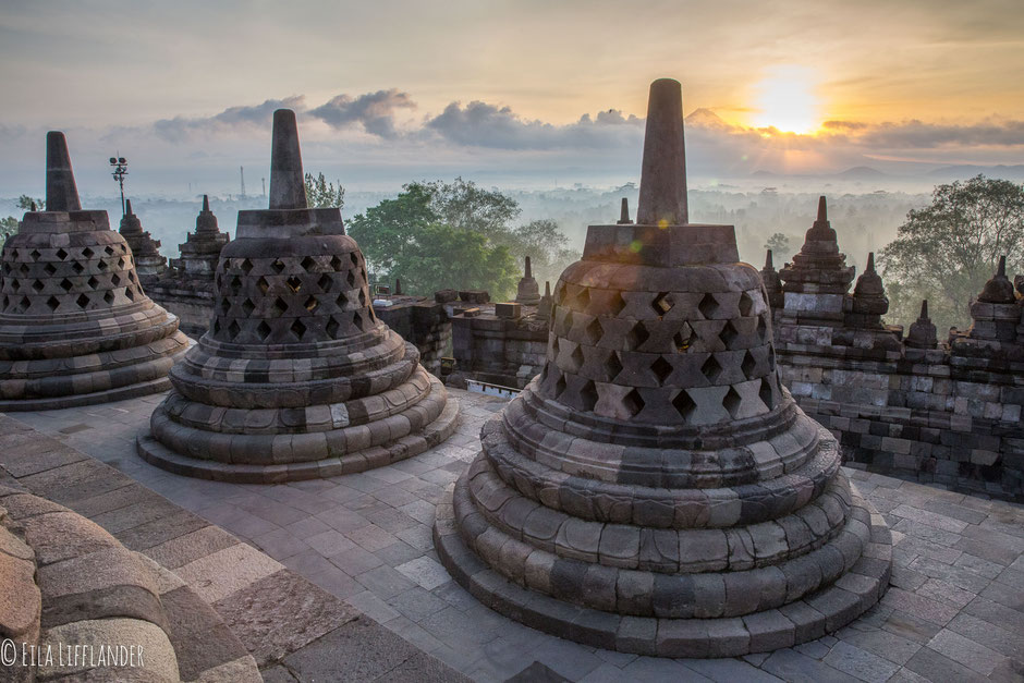 Sunrise at Boroburdur Temple