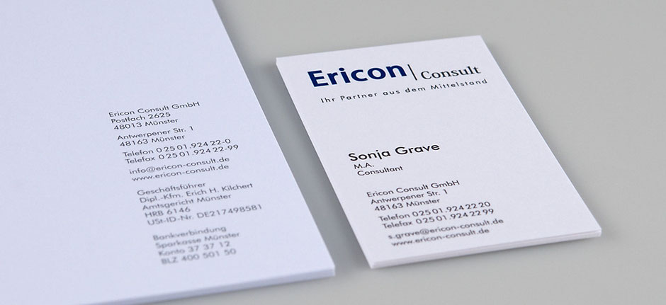 Corporate Design Ericon Consult
