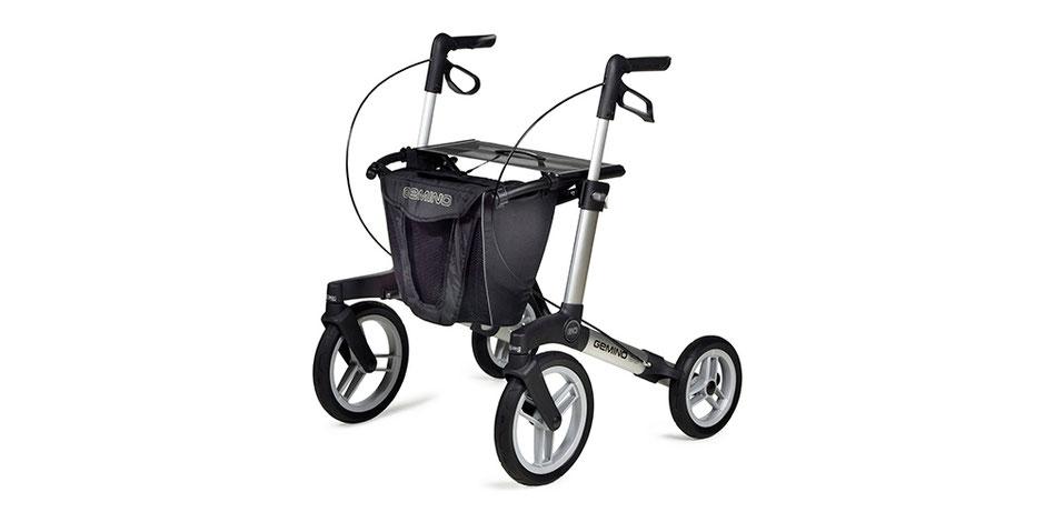 Rollatoren mit großen Rädern für draussen im Garten, Strand oder unebenen Flächen. Sicher laufen