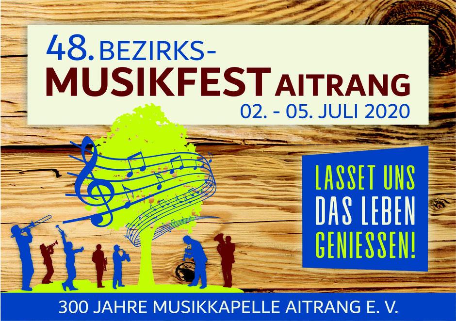 Musik Musikfest Bezirksmusikfest 2020 Aitrang Musikkapelle Hopfenbläser Partyböcke Fäascht Bänkler Brauhaus Musikanten Muckasäck