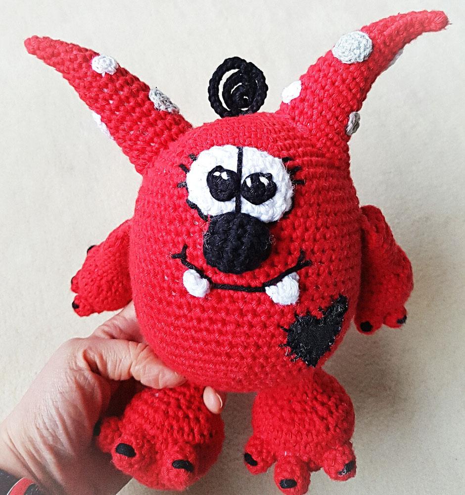 Lui♡Monster der coole Mutmacher (Monstercool) designed by Dat Yarn's