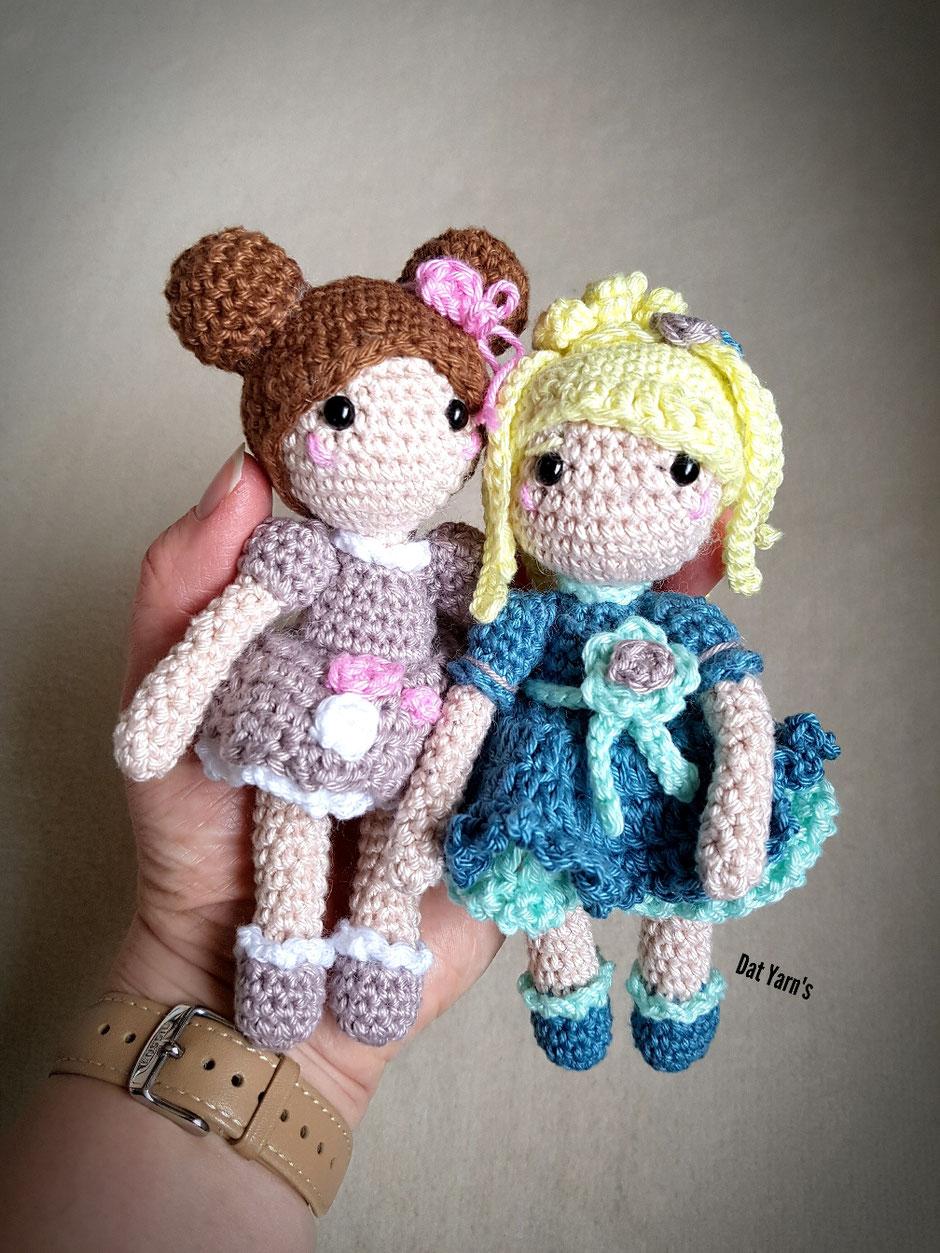 Kleine Puppen im romantischen Look (Unikate Dat Yarn's Design)