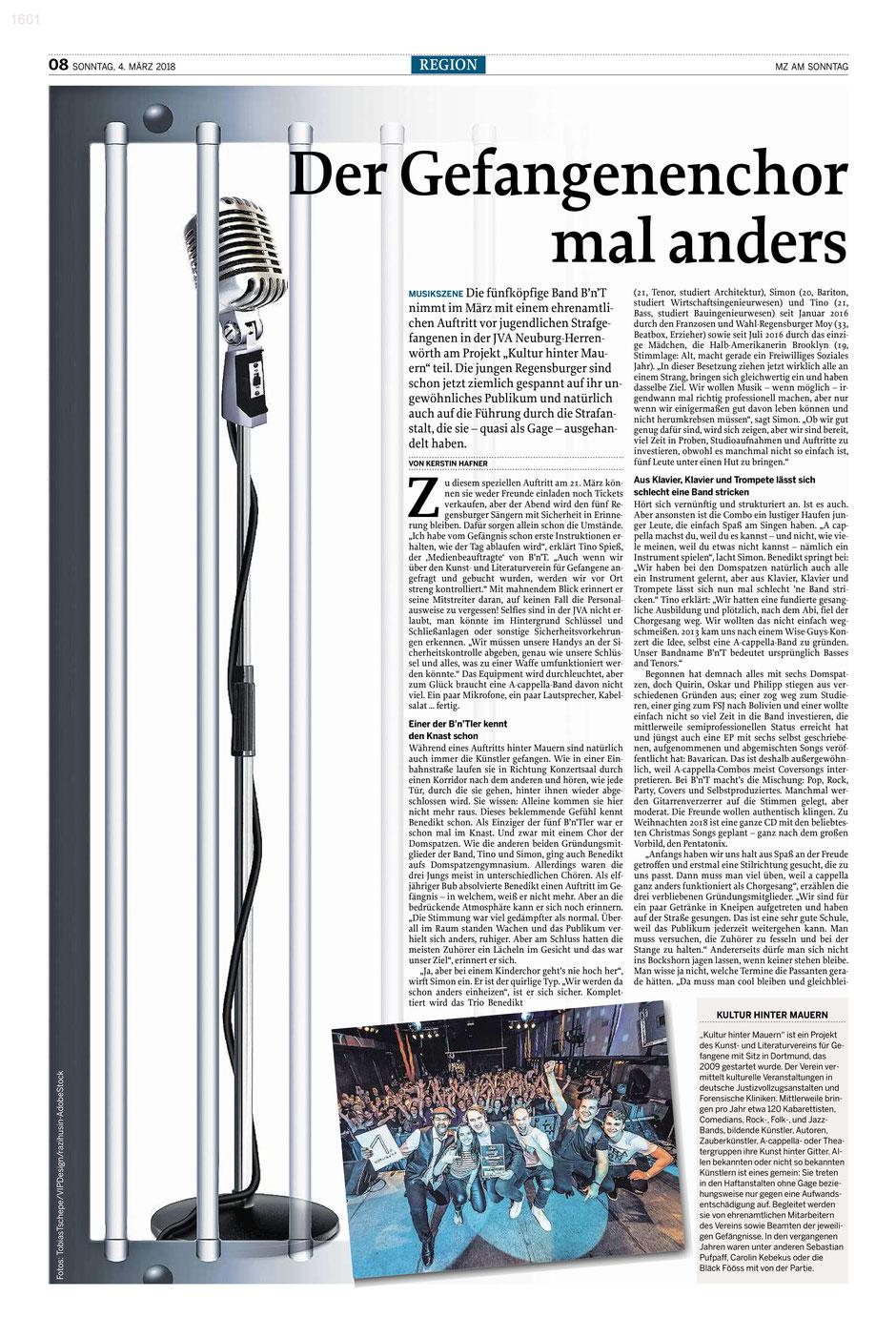 Erschienen in der Digitalen Sonntagszeitung der MZ am 04.03. 2018